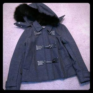 Michael Kors wool jacket with detachable Fox fur